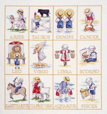 punto croce segni zodiaco