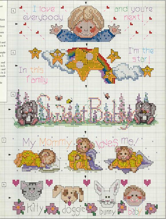 Schemi punto croce per bavaglini asilo by57 pineglen for Schemi punto croce per bavaglini