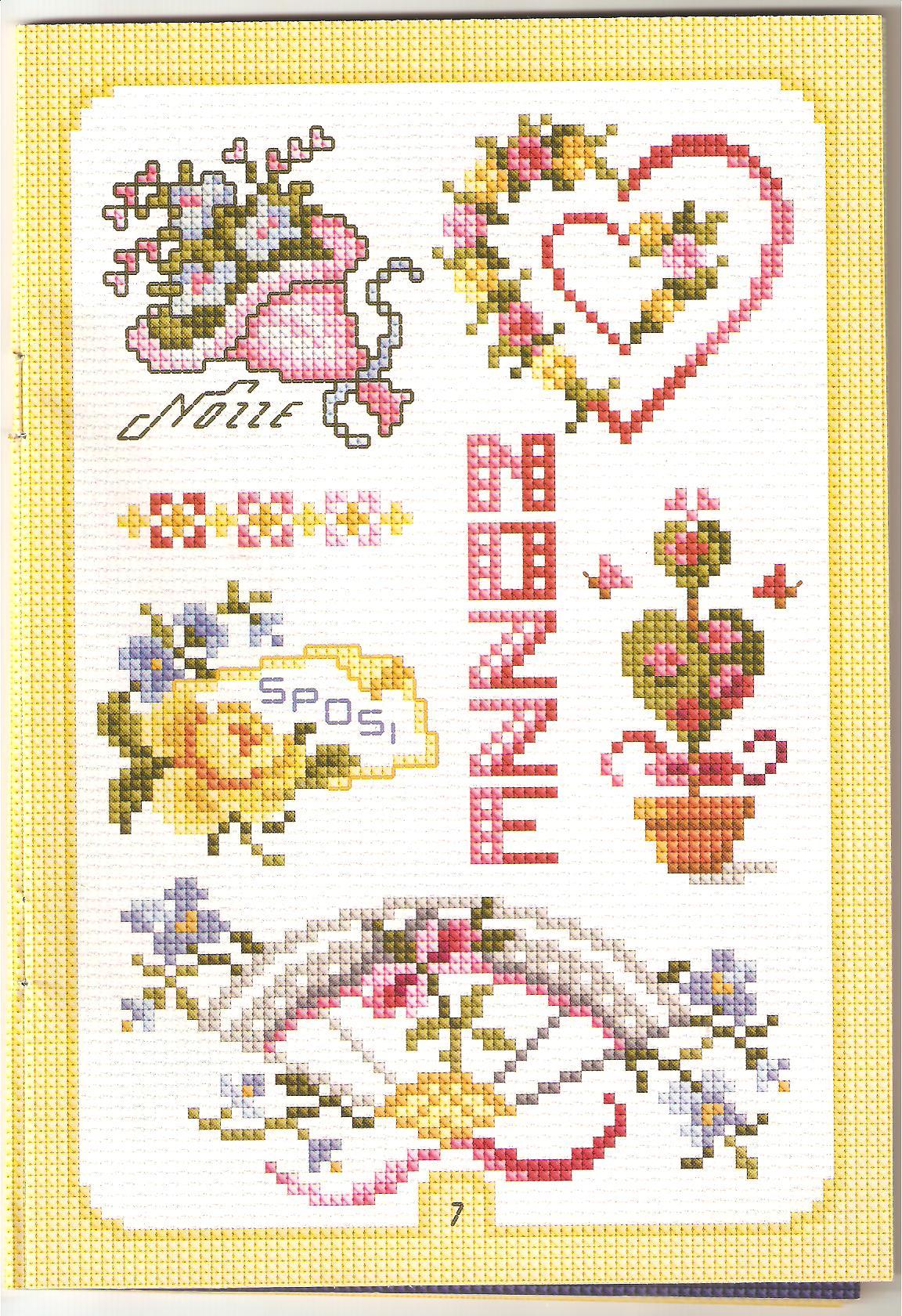 Bomboniere Matrimonio Punto Croce Schemi.Schema Punto Croce Matrimonio 54