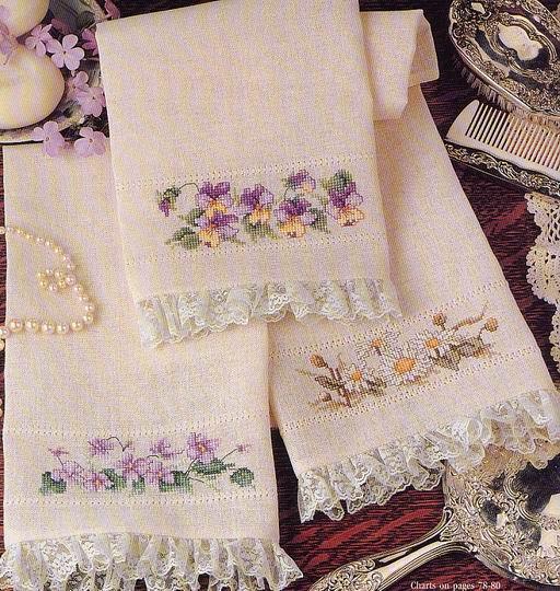 Schemi di punto croce per asciugamani - Fare di Una Mosca