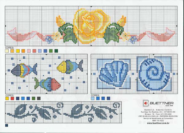 schema punto croce pesci cavalluccio marino pictures to pin on