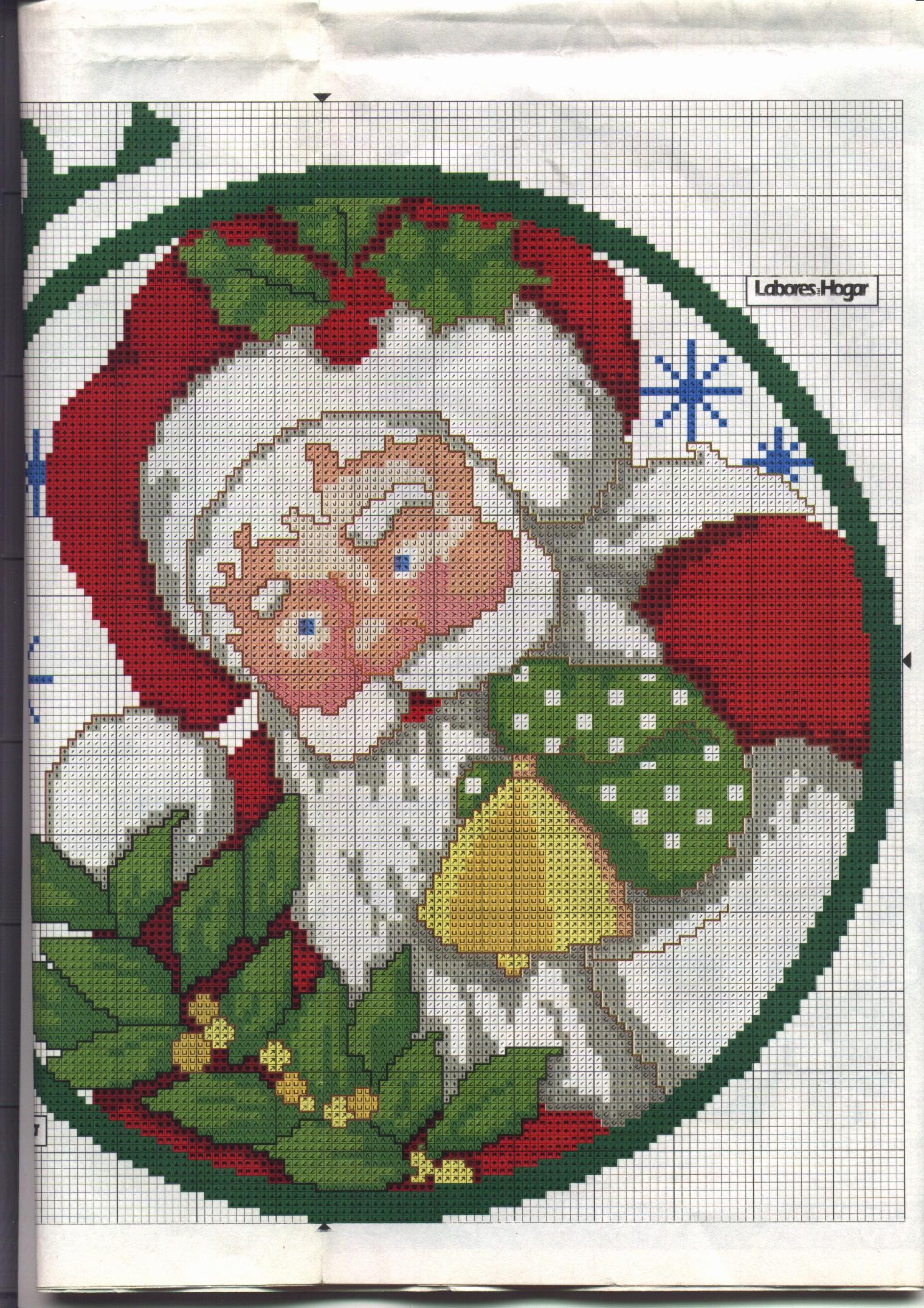 Babbo Natale Punto Croce Schemi Gratis.Schema Punto Croce Babbo Natale 11