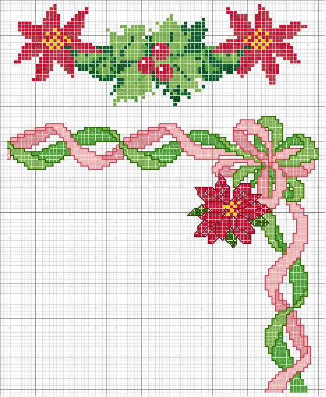 Schema Punto Croce Stella Di Natale.Schema Punto Croce Fiore Stella 1