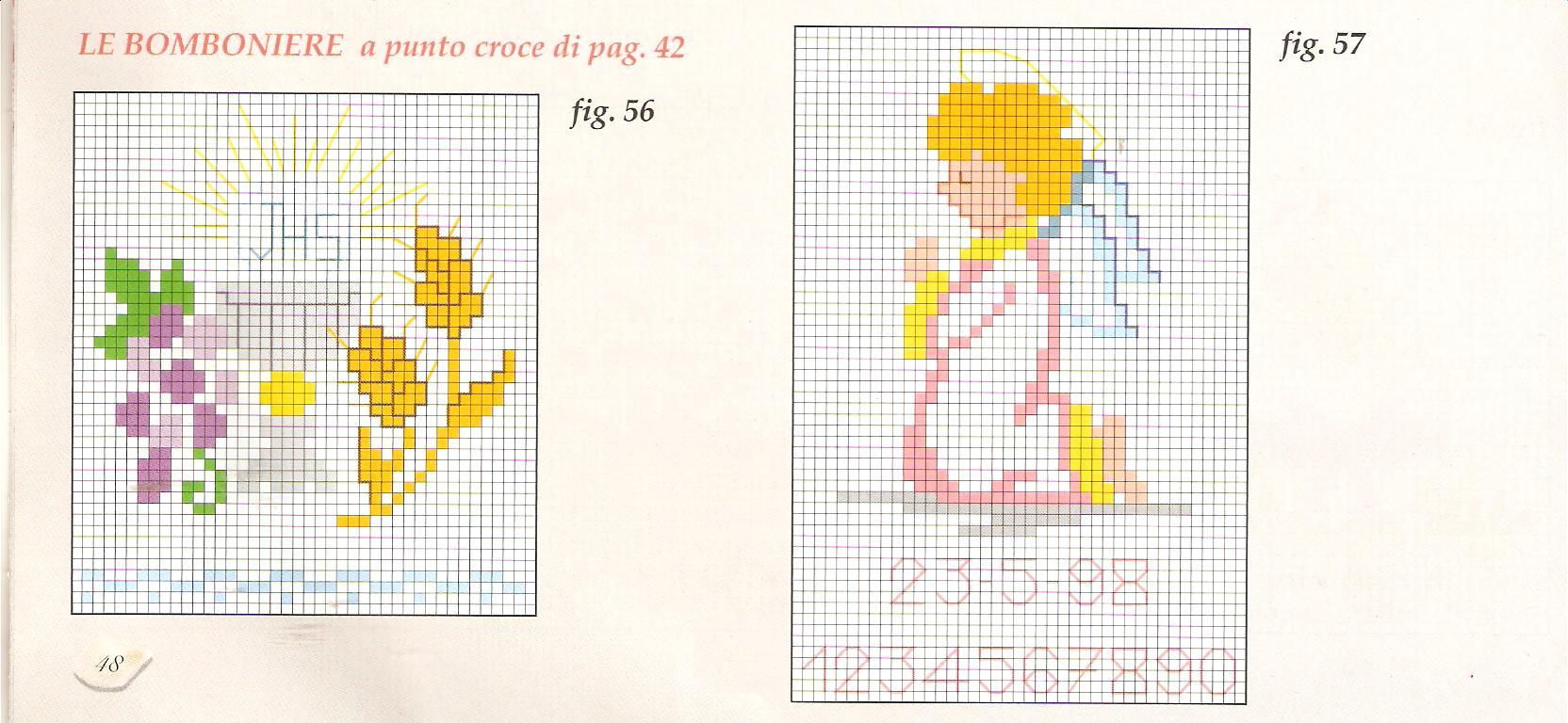 Schema Punto Croce Angioletto Spiga