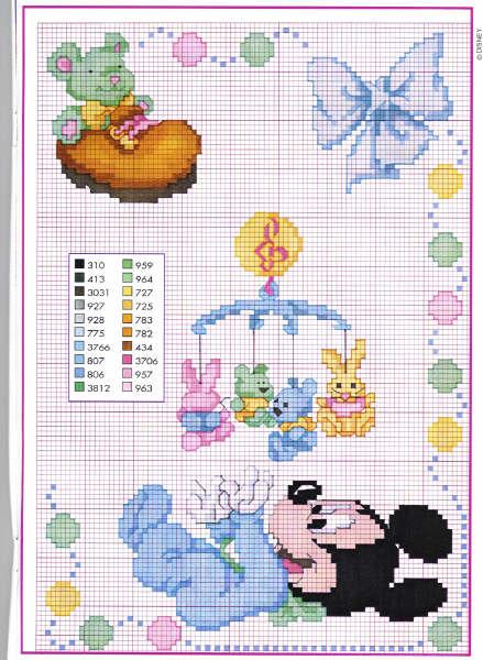 Eccezionale Schemi punto croce: Disney baby, Ercole, Farfallina, fiori e Forbici UJ46