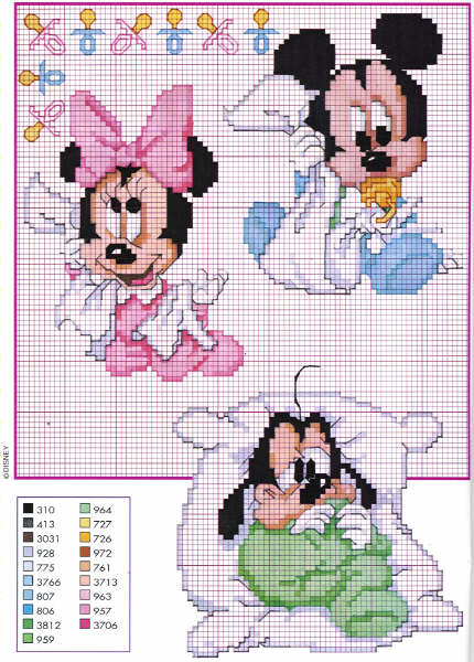 spesso Schemi Punto Croce Bavaglini Disney Gratis MM47 » Regardsdefemmes LP62
