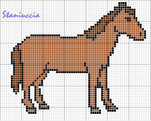 Cavalluccio A Dondolo A Punto Croce.Schemi Punto Croce Pucca Candy Candy Paesaggio Mare E Cavallo