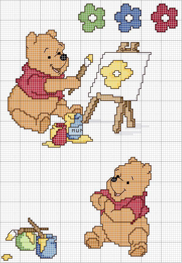 Schemi punto croce diddl winnie e disegnini for Winnie the pooh punto croce schemi