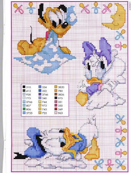 Molto Schemi punto croce: Baby Disney, Donna romantica, Elefanti e Fari VS07