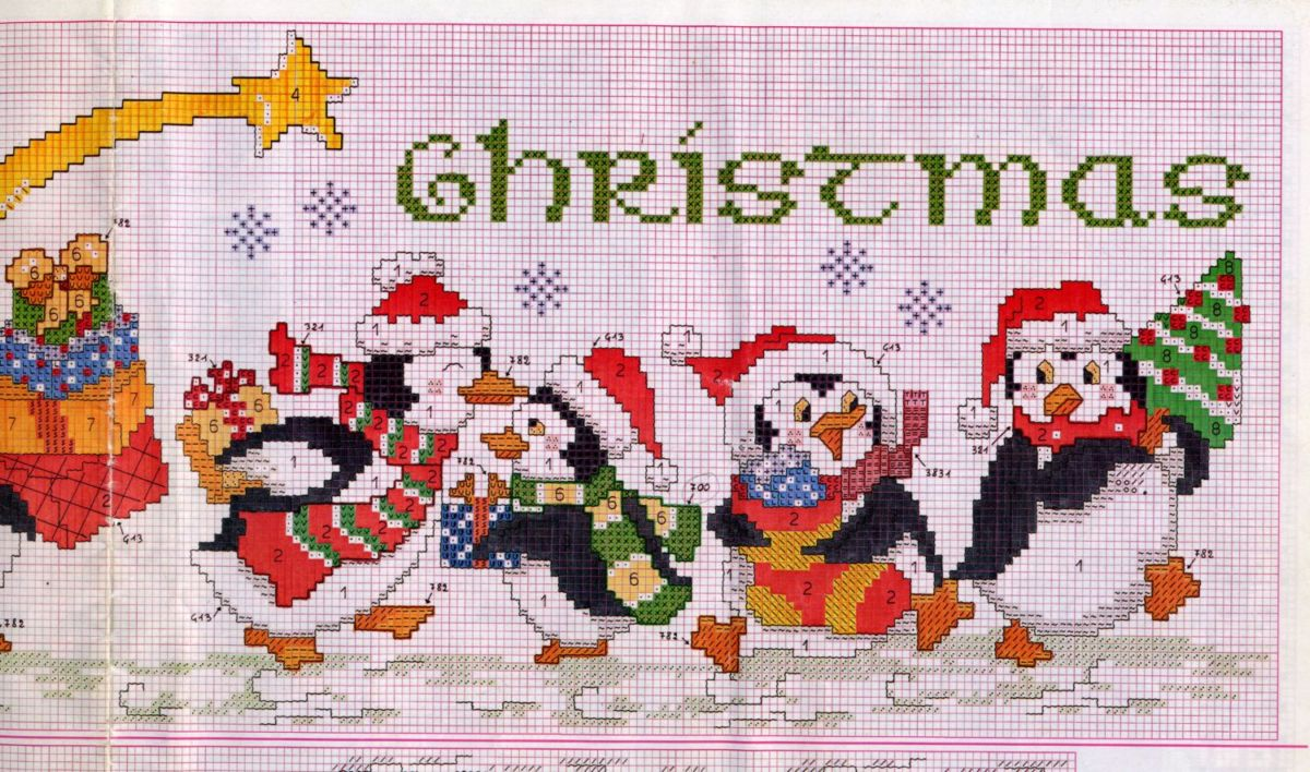 written the inside Welcome  Christmas or table Merry Noel  Perhaps  runner or embroidery kits