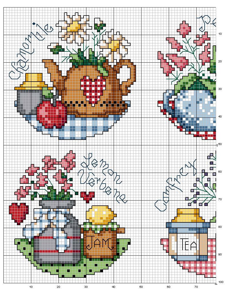 schema punto croce cucina spezie 3 - Disegni Per Cucina