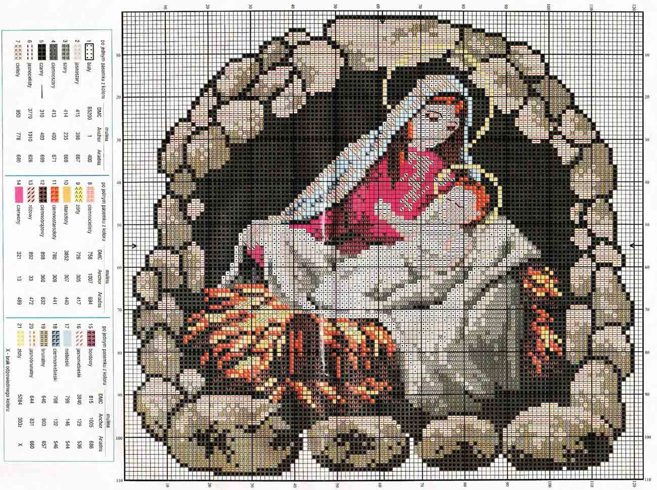 Вышивка крестом рождество 1