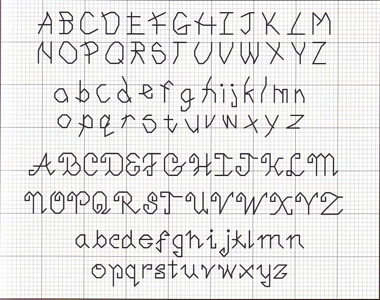 Schemi punto croce alfabeto corsivo piccolo artstage for Punto croce schemi alfabeto