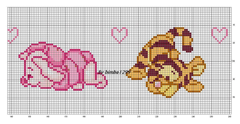 Schema punto croce winnie the pooh