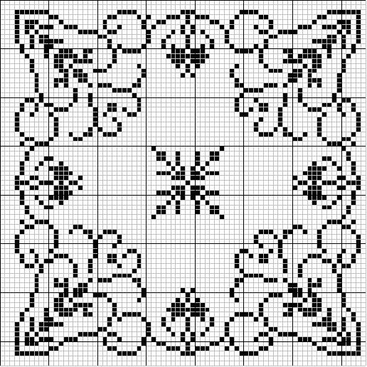 Centrini punto croce schemi