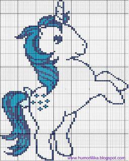 Schema punto croce my little pony
