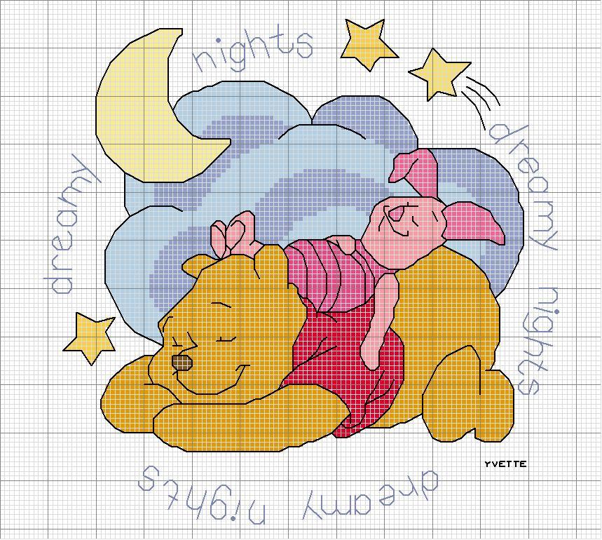 - Schemi Punto Croce Winnie The Pooh Pimpi S E X Tigro T U V E W