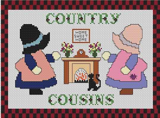 Schema Punto Croce Cucina Country