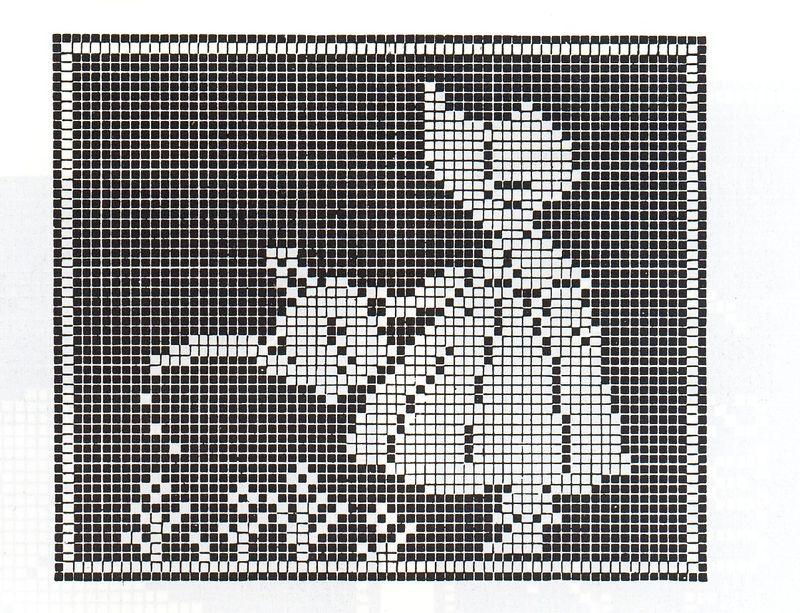 Schema punto croce Massaia monocolore 2