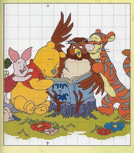 Schemi punto croce trilly nera bugs bunny winnie the pooh for Winnie the pooh punto croce schemi