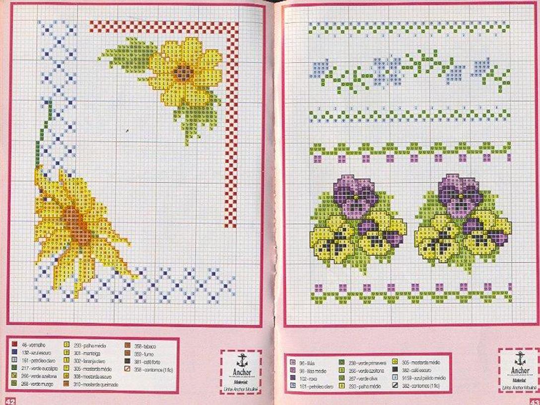 Schema punto croce idee girasole for Idee punto croce neonati