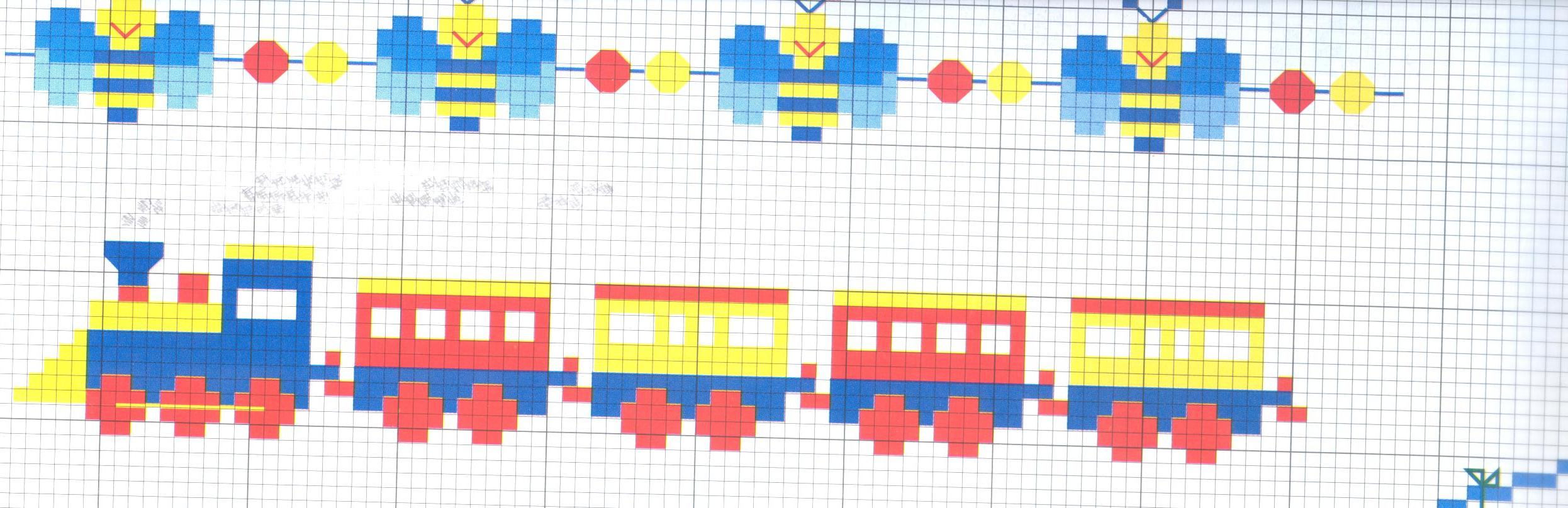 Schema punto croce trenino