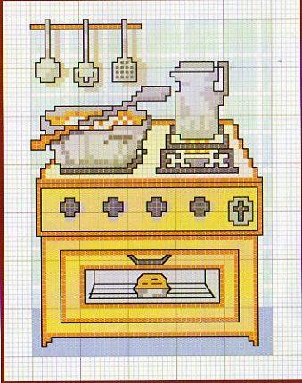 Schema punto croce Gas Forno