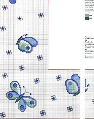 Schema punto croce farfalla azzurra d for Farfalle a punto croce per bambini