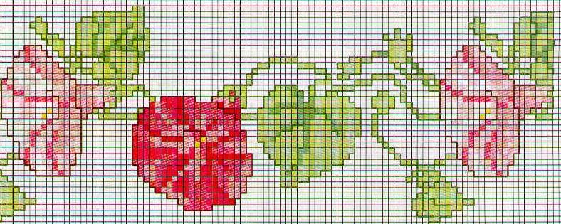 Schema punto croce Fiori Bordo fiori