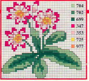 Schema punto croce Fiori Fiori 22