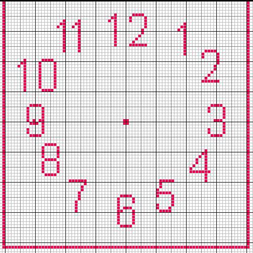 Schema punto croce orologio girasole 1 for Orologio punto croce schemi gratis