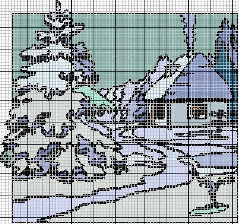 Schemi punto croce paesaggi for Immagini di punto croce