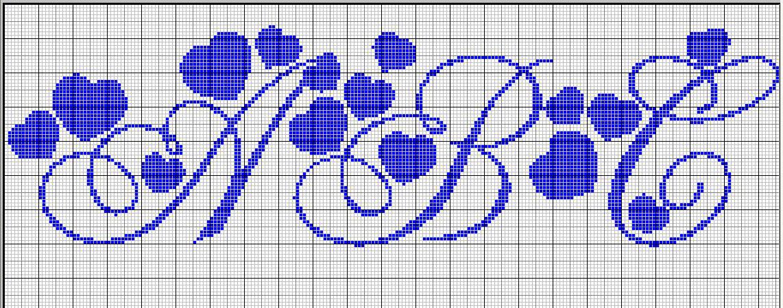 Alfabeto con i cuoricini pagina 3 for Alfabeto punto croce grande
