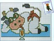 Schéma point de croix vache Avec Lunettes