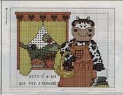 Schéma point de croix vache fenêtre