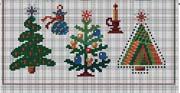 Schema punto croce Alberi Di Natale-3