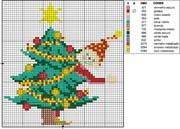 Schema punto croce Albero Elfo