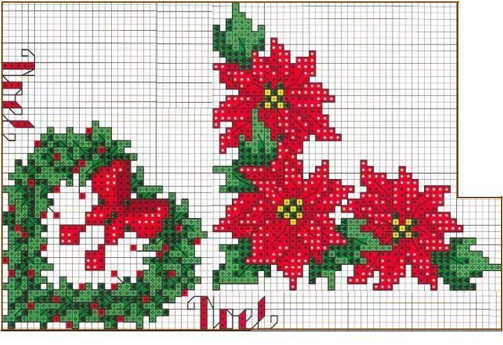 Immagini Di Natale A Punto Croce.Schema Punto Croce Stelle Di Natale
