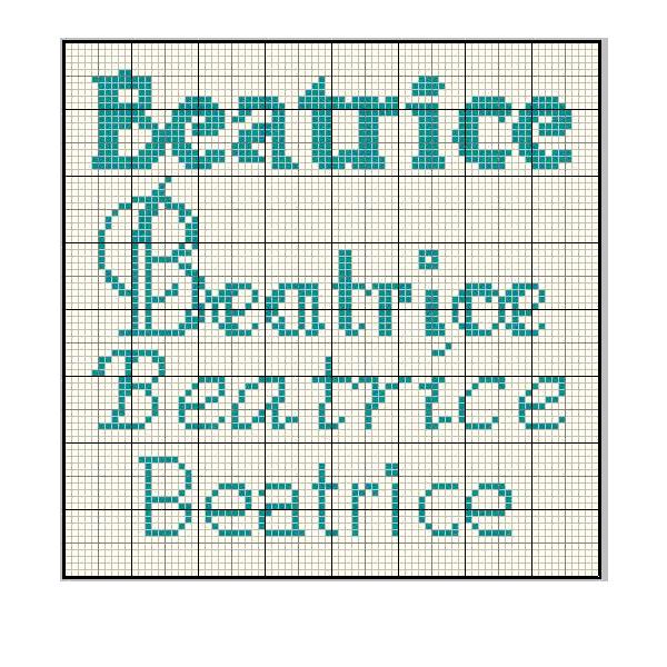 schema cross stich beatrice