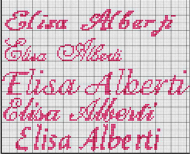 Favoloso Schema nome * Elisa* in vari font FN21