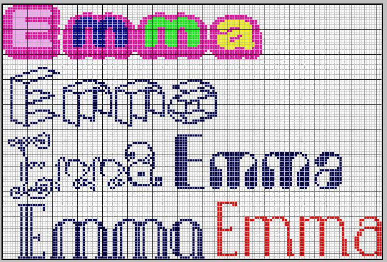 Conosciuto Schemi Punto croce Emma 3, Mi chiamo Serena e Ginevra AA96