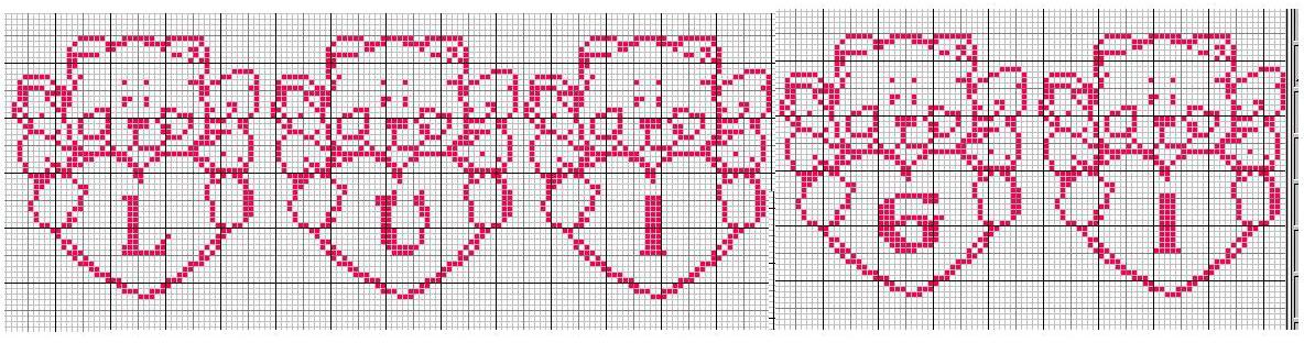 Schema punto croce nomi luigi