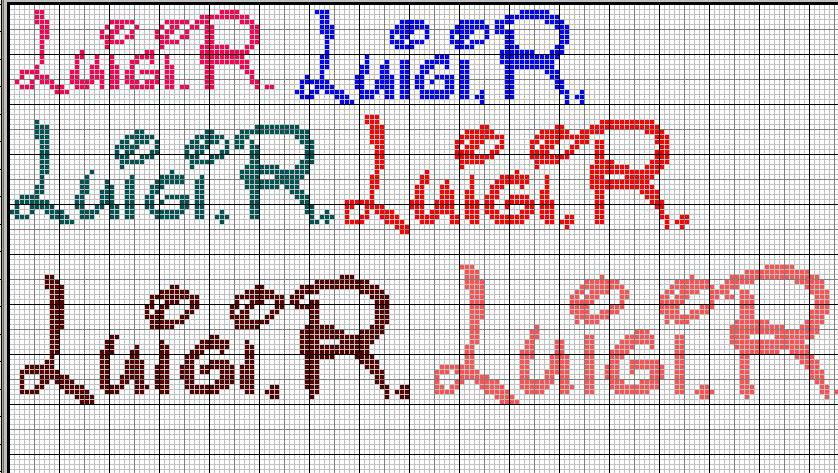 punto croce nomi luigi