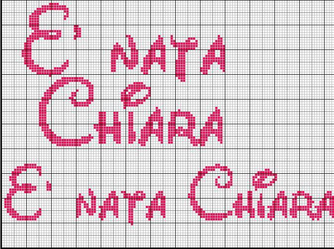 Molto Scritta * E nata Chiara* ZH64