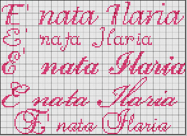 Estremamente Richiesta schema nome * Ilaria * in vari font VK61
