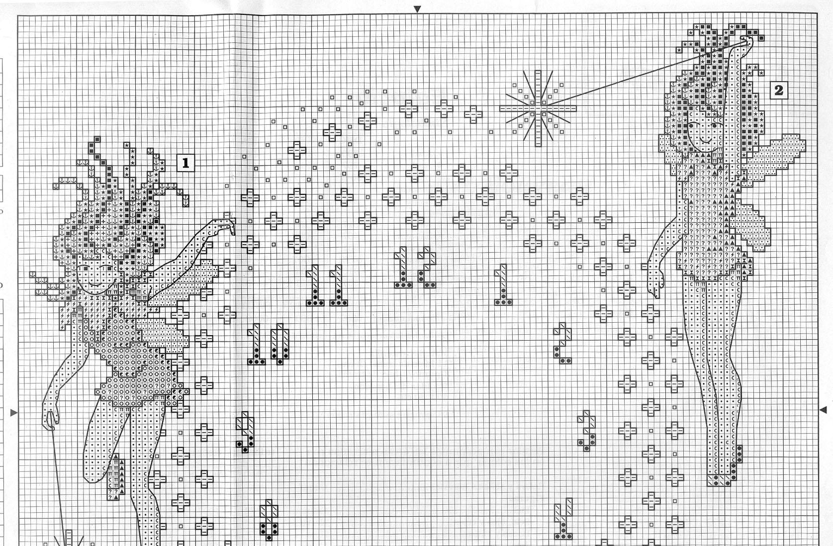 Schema punto croce orologio 3fate 1a for Orologio punto croce schemi gratis