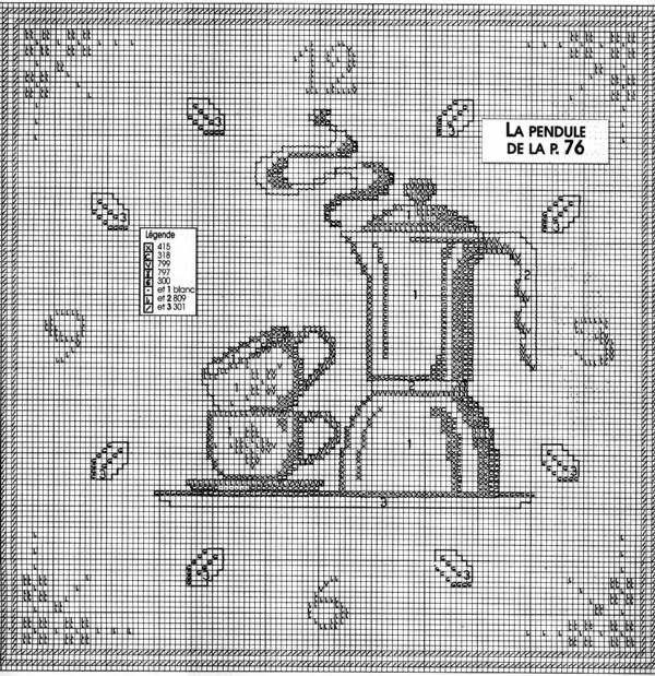 Schema punto croce orologio caffettiera 1b for Orologio punto croce schemi gratis