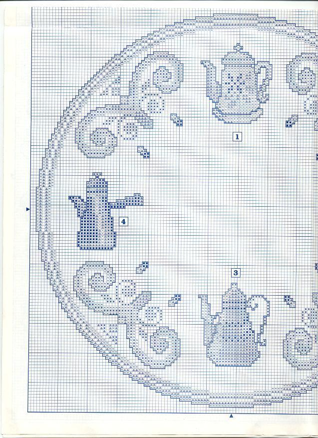 Schema punto croce orologio caffettiere 2b for Orologio punto croce schemi gratis