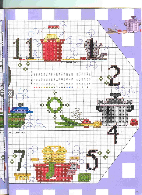 Schema punto croce orologio faccende3 for Orologio punto croce schemi gratis