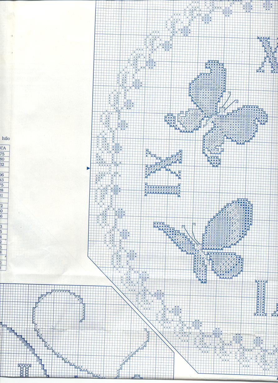 Schema punto croce orologio farfalle 1d for Orologio punto croce schemi gratis